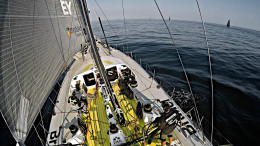 May 17, 2015. Leg 7 to Lisbon onboard Team Brunel. Day 00. A weak beginning... a wrong sail change and a bad tack puts us aft in the fleet  Stefan Coppers / Team Brunel / Volvo Ocean Race