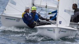 20150610 Copyright onEdition 2015© Credit: onEdition  Anton Dahlberg and Fredrik Bergstorm, SWE, Men's Two Person Dinghy (470) at Day One of the ISAF Sailing World Cup Weymouth & Portland.