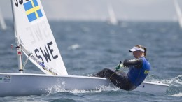 20150613 Copyright onEdition 2015© Credit: onEdition  Josefin Olsson, SWE, Women's One Person Dinghy (Laser Radial) on day four of the ISAF Sailing World Cup Weymouth & Portland.