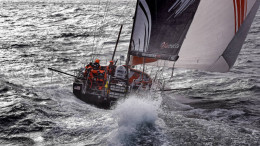 March 30, 2013. Team Alvimedica leads the Volvo Ocean 65 fleet around Cape Horn.