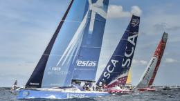 June 14, 2015. Lorient SCA In-Port Race: Team Vestas Wind, Team SCA and Dongfeng Race Team Photo: Ricardo Pinto / Volvo Ocean Race