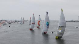 June 27, 2015. The final day of the 2014-15 edition of the Volvo Ocean Race. The fleet during the Inmarsat In-Port Race in Gothenburg.  Photo: Ainhoa Sanchez / Volvo Ocean Race
