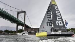 June 27, 2015. Inmarsat In-Port Race Gothenburg. Team Brunel  Photo: Ricardo Pinto / Volvo Ocean Race