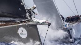 CaptionOPEN SEASON, Sail n: GBR821NE, GBR, Thomas Bscher, Model: Wally 94  Photo Credit:Rolex / Carlo Borlenghi
