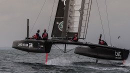 T2 takes off on the Solent  Land Rover BAR will continue test sailing in the Solent throughout the winter. Next week the team will fly to Bermuda for the final Louis Vuitton America's Cup World Series event of the year (17th and 18th October).