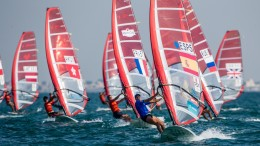 Archive: RS:X WORLD CHAMPIONSHIP 2015, October 17th-24th Al Mussanah Sports City, Sultanate of Oman.Second day of racing 20.10.2015  Credit Jesus Renedo/Oman Sail