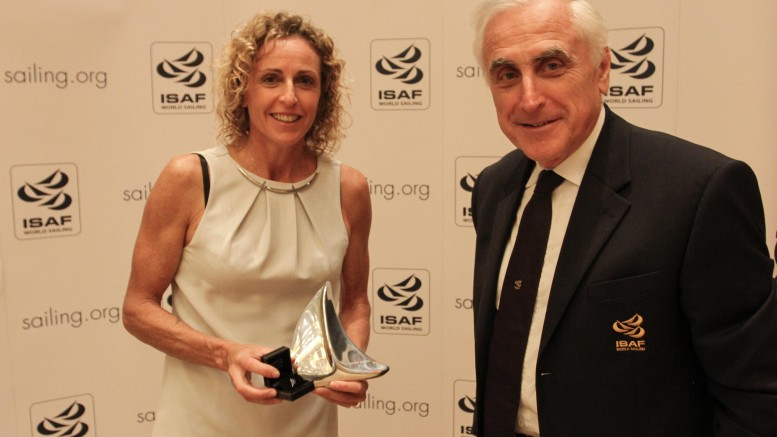 Alessandra Sensini with ISAF President Carlo Croce
