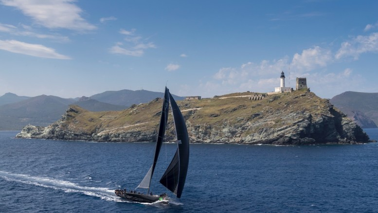 JETHOU ROUNDS THE GIRAGLIA ROCK ON THE SECOND DAY OF THE RACE ©Rolex/Carlo Borlenghi