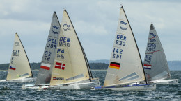 Photo: Robert Deaves (C) Finnclass Worlds U23 Aarhus Denmark 2016  World Champ: Phillip Kasueske, Germany.