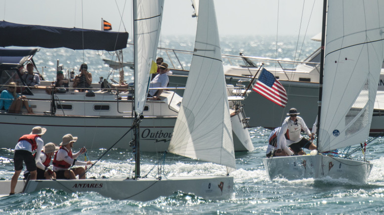 """– """"Price (l) and Killian (r) pre-start in 2016 Governor's Cup, both back in 2018 seeking their 2nd win"""" Credit: Tom Walker"""