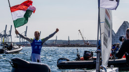 Aarhus, Denmark is hosting the 2018 Hempel Sailing World Championships from 30 July to 12 August 2018. More than 1,400 sailors from 85 nations are racing across ten Olympic sailing disciplines as well as Men's and Women's Kiteboarding.  40% of Tokyo 2020 Olympic Sailing Competition places will be awarded in Aarhus as well as 12 World Championship medals. ©JESUS RENEDO/SAILING ENERGY/AARHUS 2018 09 August, 2018.