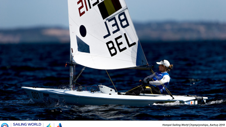 Aarhus, Denmark is hosting the 2018 Hempel Sailing World Championships from 30 July to 12 August 2018. More than 1,400 sailors from 85 nations are racing across ten Olympic sailing disciplines as well as Men's and Women's Kiteboarding.  40% of Tokyo 2020 Olympic Sailing Competition places will be awarded in Aarhus as well as 12 World Championship medals. ©PEDRO MARTINEZ/SAILING ENERGY/AARHUS 2018 09 August, 2018.