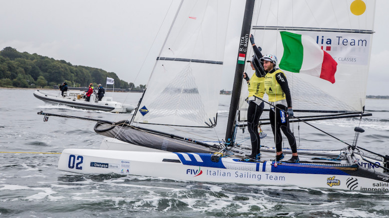 Aarhus, Denmark is hosting the 2018 Hempel Sailing World Championships from 30 July to 12 August 2018. More than 1,400 sailors from 85 nations are racing across ten Olympic sailing disciplines as well as Men's and Women's Kiteboarding.  40% of Tokyo 2020 Olympic Sailing Competition places will be awarded in Aarhus as well as 12 World Championship medals. ©JESUS RENEDO/SAILING ENERGY/AARHUS 2018 12 August, 2018.